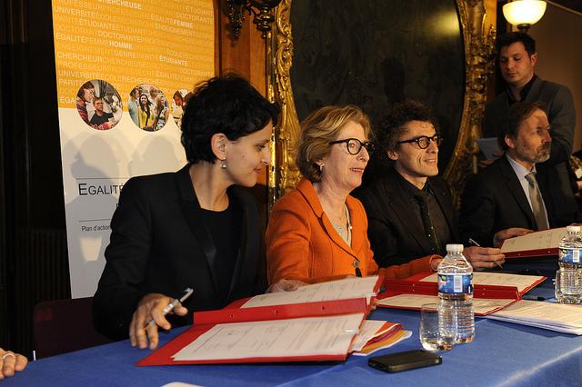 Najat Vallaud-Belkacem, la ministre du Droit des femmes, vient de lancer un palmarès récompensant les entreprises favorisant la parité homme-femme.